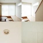 和紙の壁紙が作り出す柔らかな空間